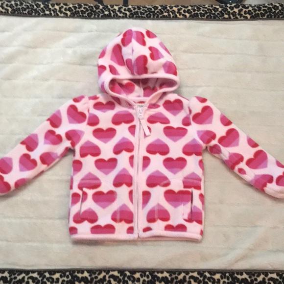 4df31e8d2e7d Old Navy Shirts & Tops | Toddler Pink Heart Fleece Zip Up | Poshmark